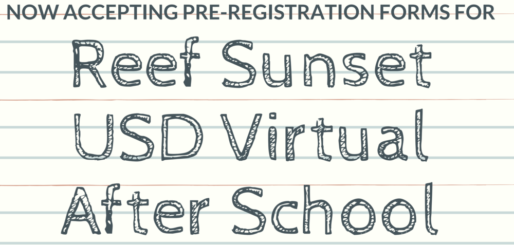 Pre-Registration for the After School Program
