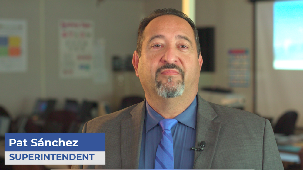 A message from Superintendent Patrick Sanchez in English